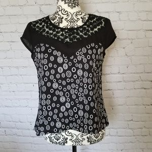 Tops - Dotted Black Top SM
